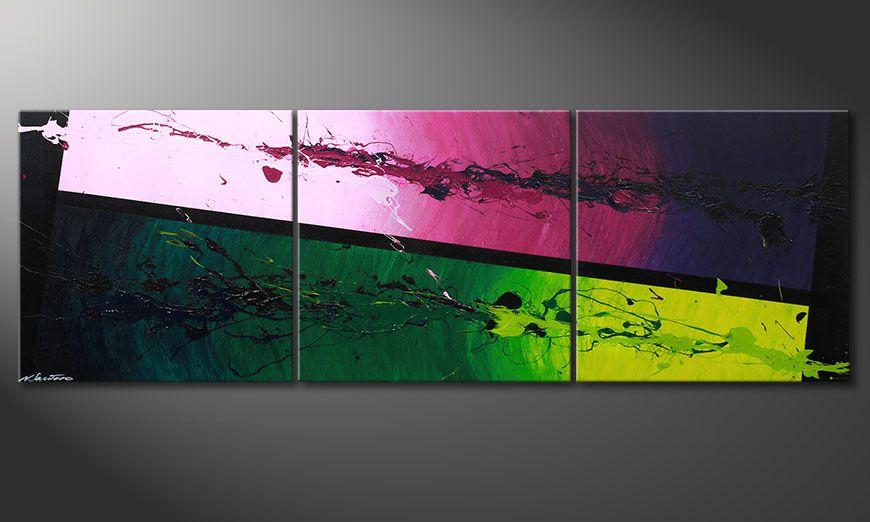 Le tableau mural Tropic Splash 210x70x2cm