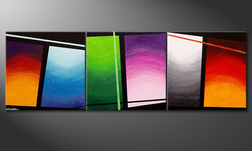Le tableau mural Wave of Colors 210x70x2cm