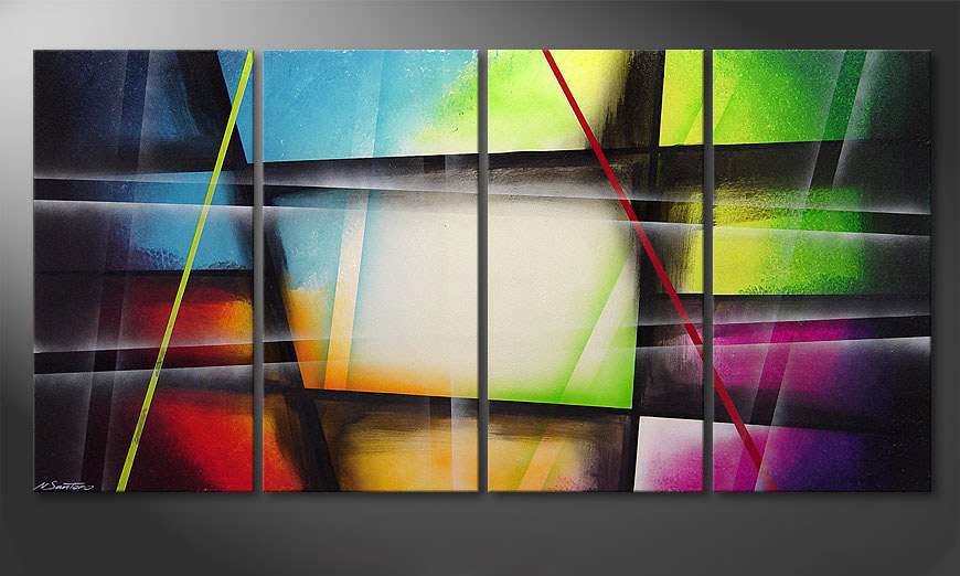 Le tableau mural Window to Rainbow 160x80x2cm