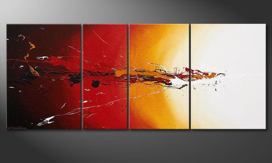 Le tableau mural moderne Fiery Splash 170x70x2cm