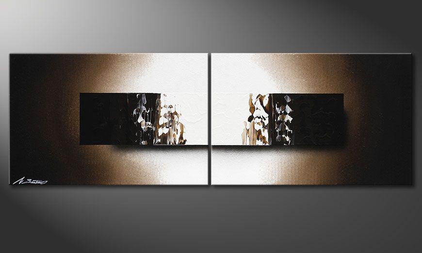 Le tableau mural sur châssis Light Rain 120x40x2cm