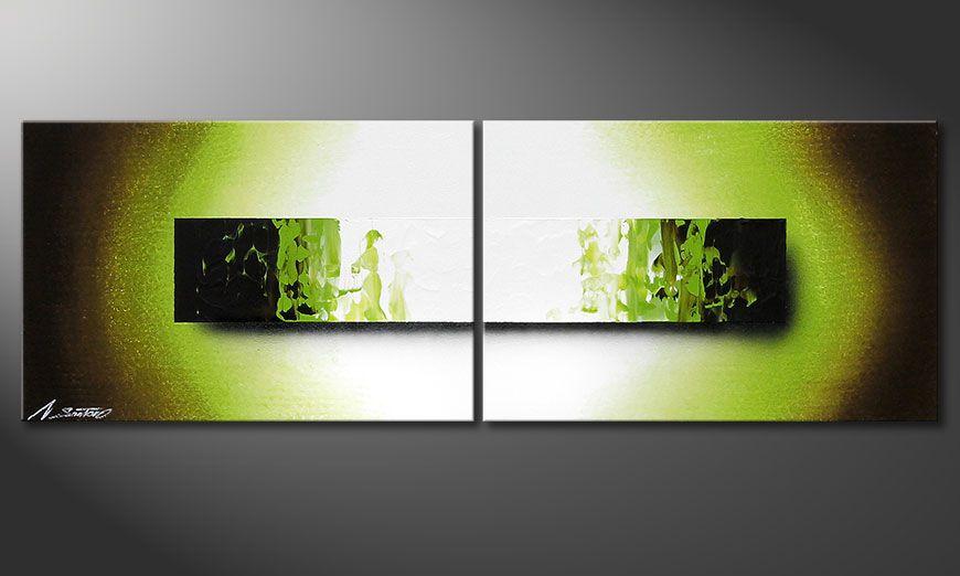 Le tableau peint à la main Jungle Fever 120x40x2cm