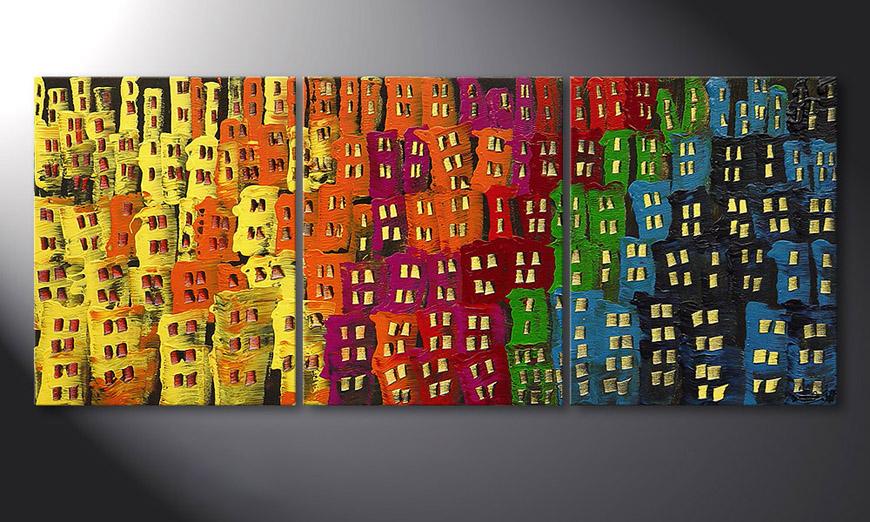 Le tableau pour salon Afterglowing City 120x50x2cm