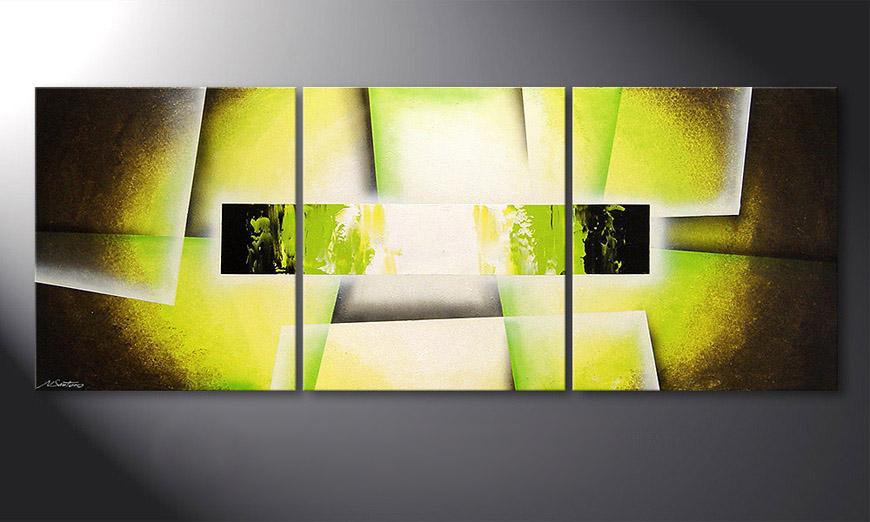 Le tableau pour salon Broken Green 180x70x2cm