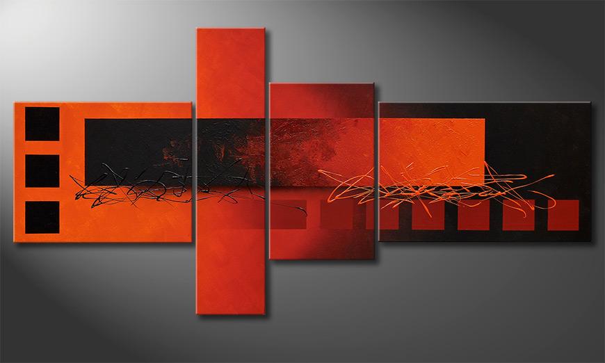 Le tableau pour salon Fiery Emotions 160x80x2cm