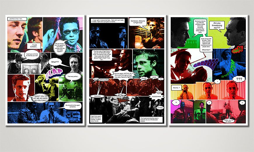 Le tableau pour salon FightClub 150x70x2cm