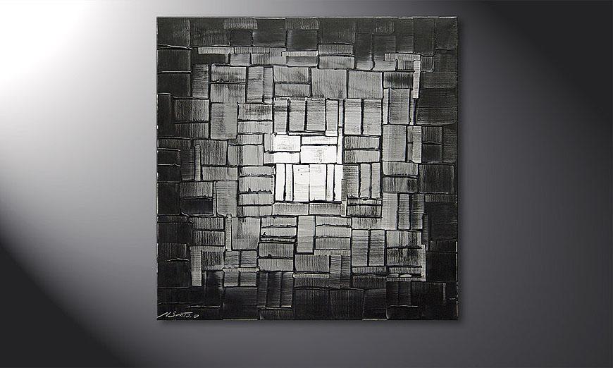 Le tableau pour salon Light Cube 80x80x2cm