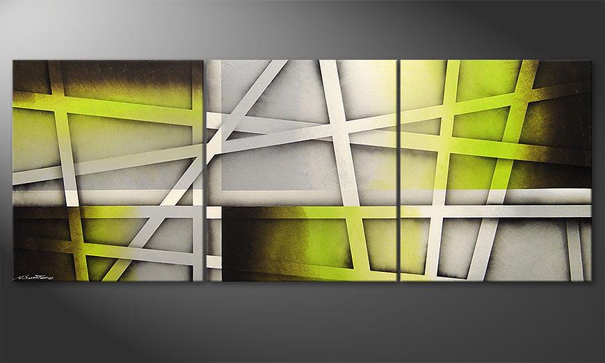 Le tableau pour salon Vivid Green 180x70x2cm