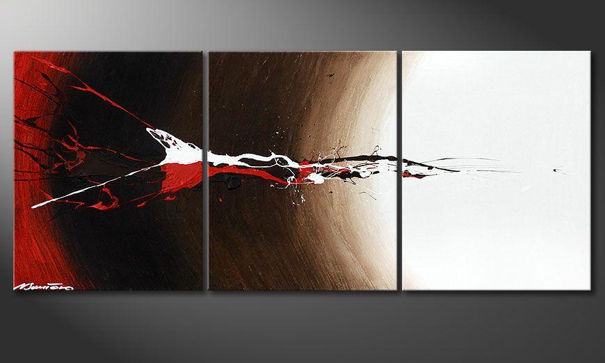 Le tableau sur châssis Erupted Contrast 120x50x2cm