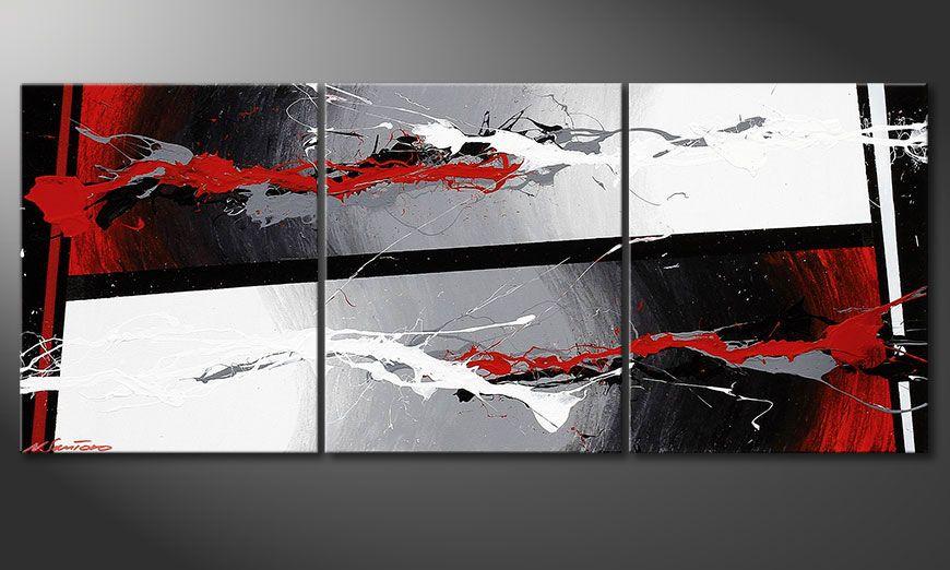 Notre tableau chic Powerful Contrast 120x50x2cm