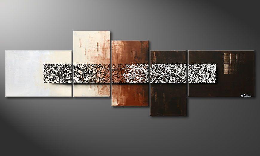 Notre toile peinte à la main Day at Night 260x90x2cm
