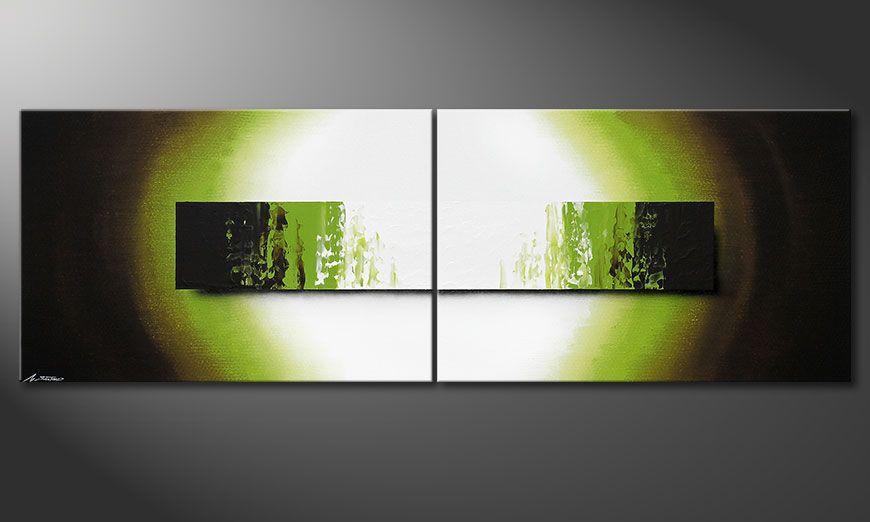 Notre toile peinte à l'acrylique Jungle Fever 240x80x2cm