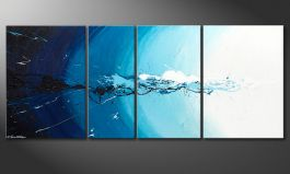 Le tableau mural<br>'Water Splash' 170x70cm