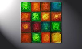 Le tableau mural 'Colorful Cubes' 80x80cm