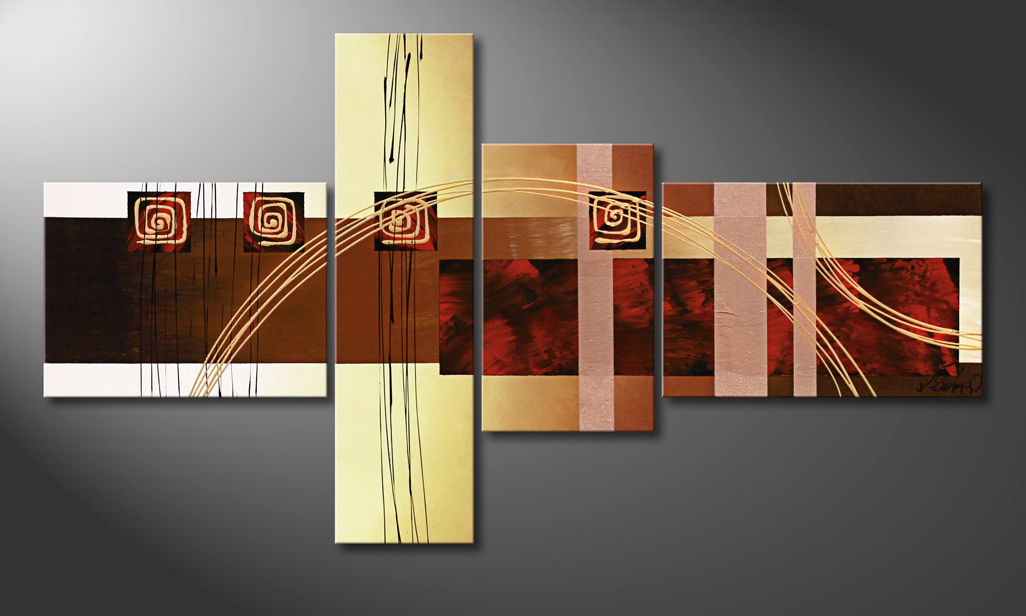 La toile pour salon golden ways 130x70cm tableaux xxl