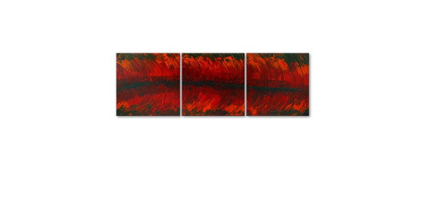 Le tableau mural Riven Red 180x60cm