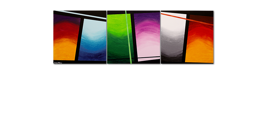 La toile en grand format Wave of Colors 240x80cm