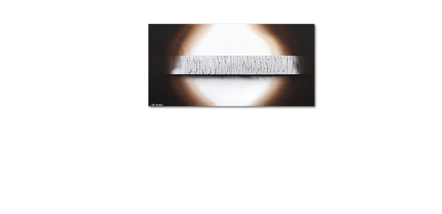 La toile grand format Silver Waves 140x70cm