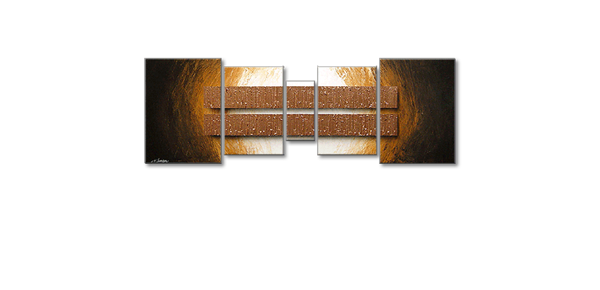 Le tableau mural Copper Blocs 200x70cm