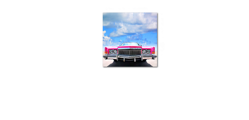 Le tableau mural Pink �Cadillac 80x80cm