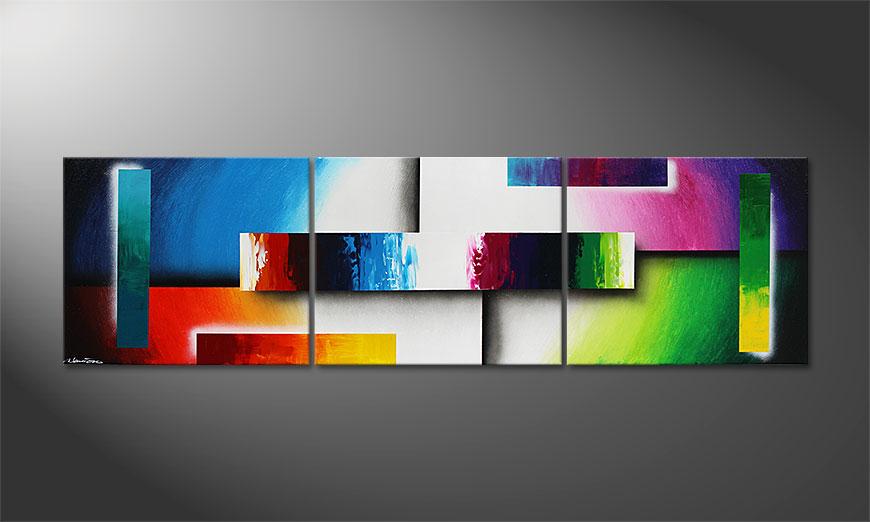 Colour Construction 210x60x2cm Tableau Modernes