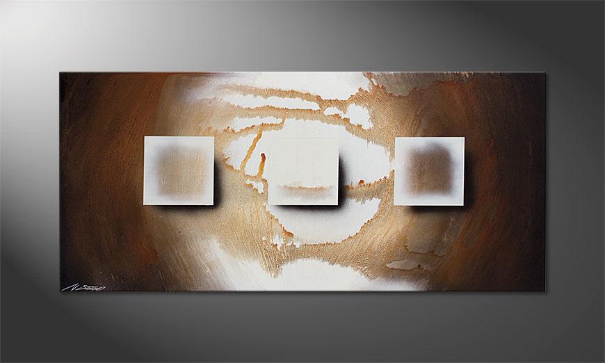 La peinture Shinning Cubes 130x60x2cm