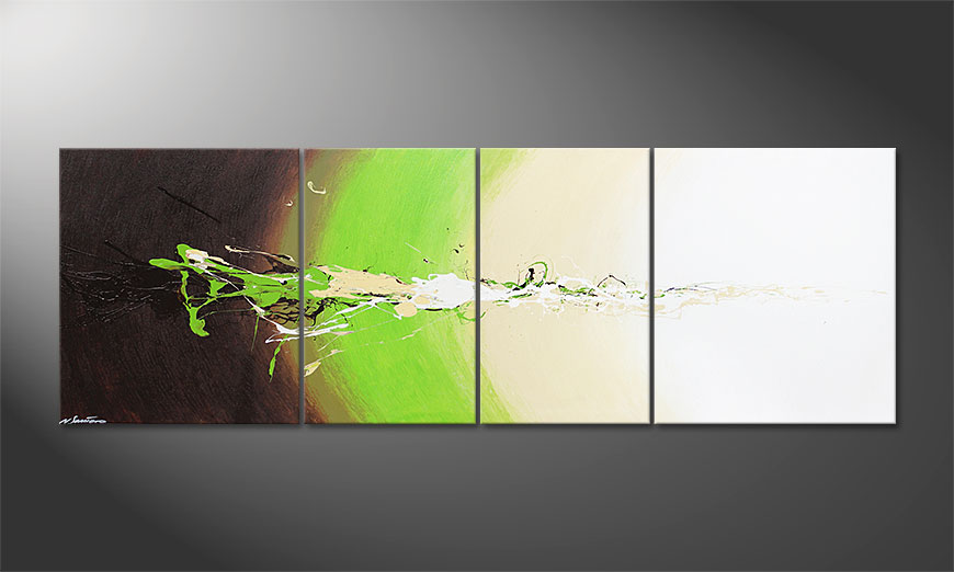 La peinture grand format Fresh Splash 240x80x2cm