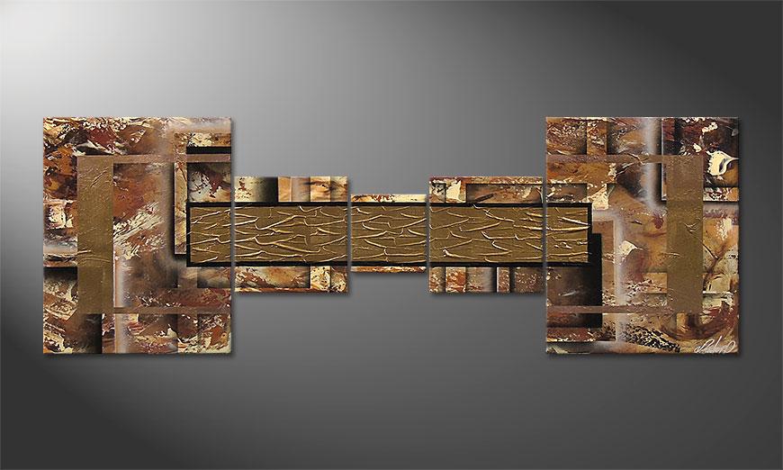 Le tableau moderne Golden Treasure 180x60x2cm
