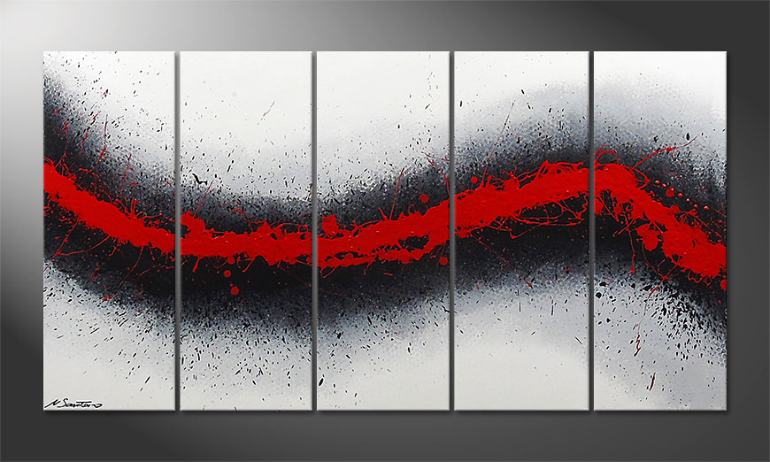 Le tableau mural Glowing Trace 150x80x2cm