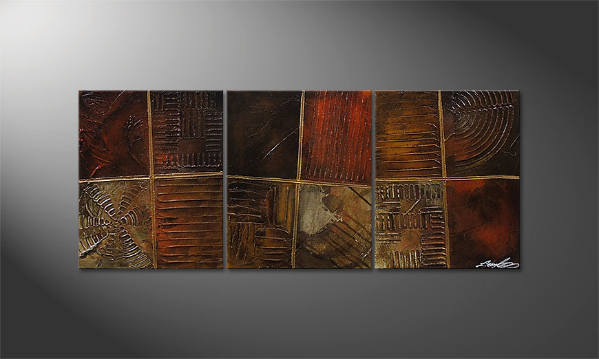 Le tableau mural Potpouri of Memories 120x50x2cm