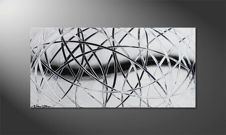 Le tableau mural Snow Traces 100x50x2cm