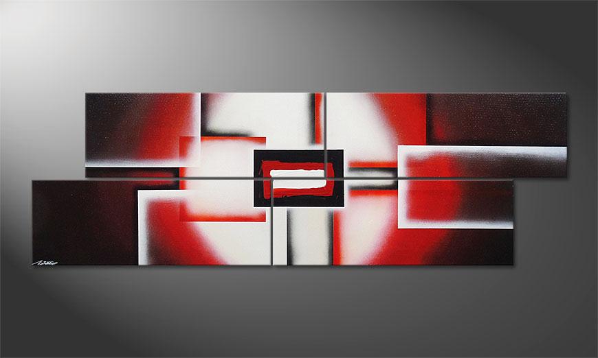 Notre toile XXL Cubes of Glow 245x80x2cm