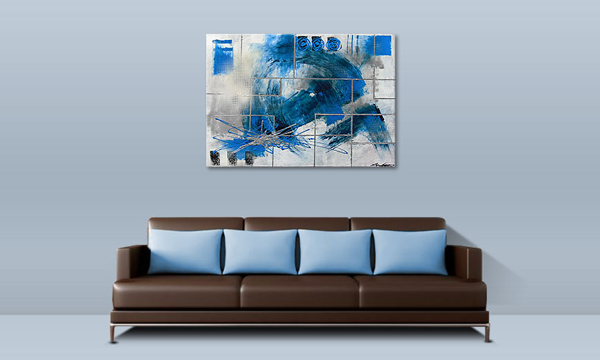 Le tableau mural Water Signs 100x70cm
