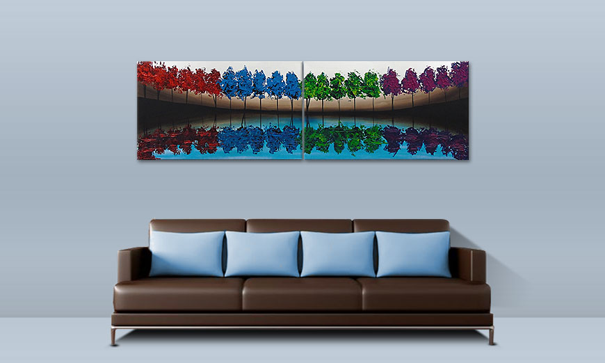 Le tableau mural Miracle Sea 200x60cm