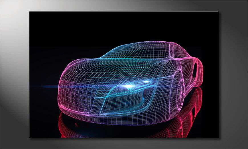 L'impression sur toile Car from Future