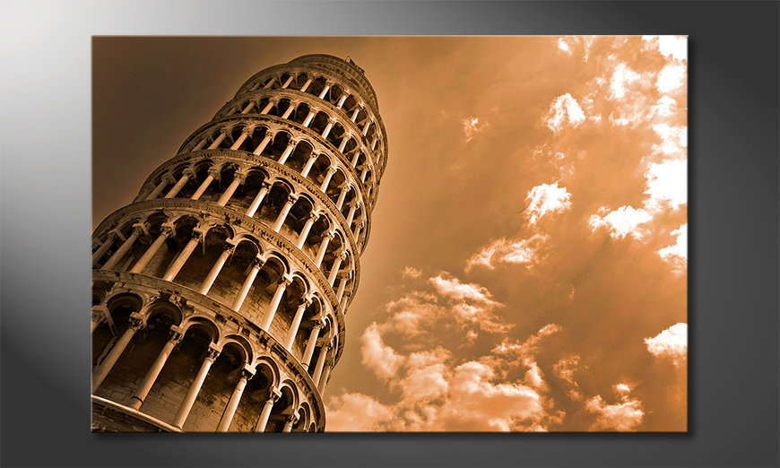 L-apos-impression-sur-toile-Leaning-�Tower