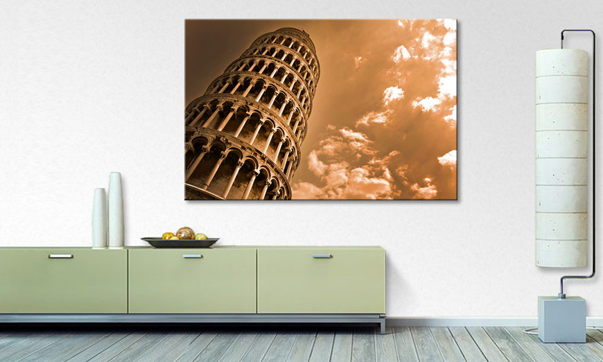 L apos impression sur toile Leaning �Tower