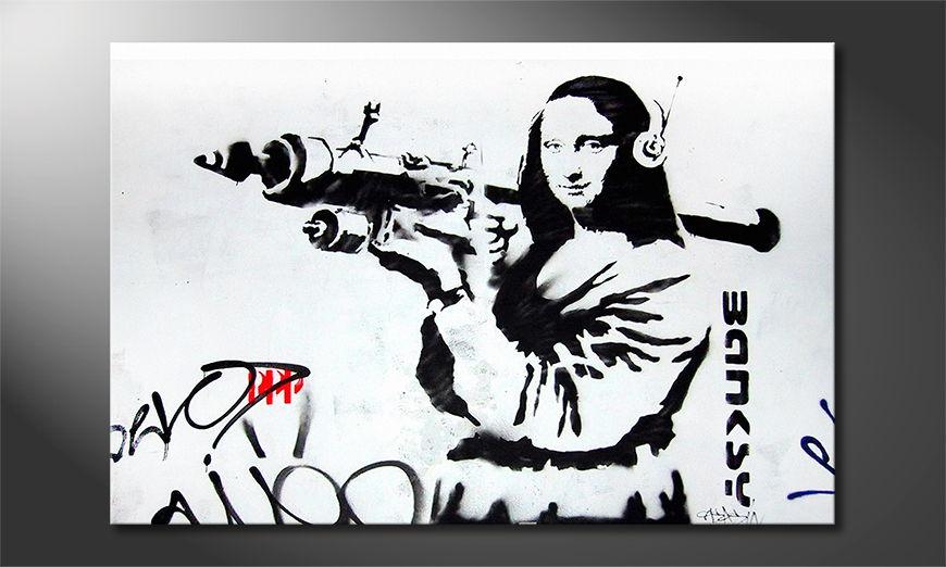 La toile imprimée Banksy No1