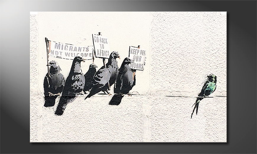 La toile imprimée Banksy No11
