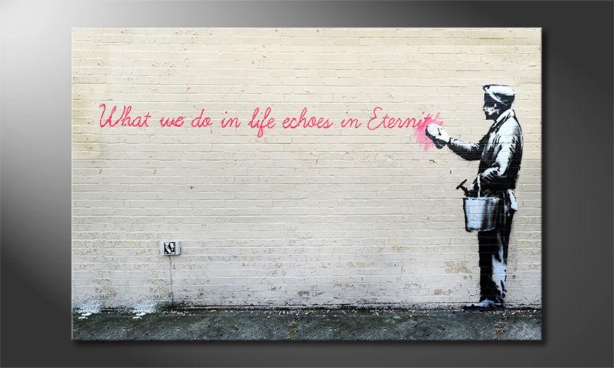 La toile imprimée Banksy No17