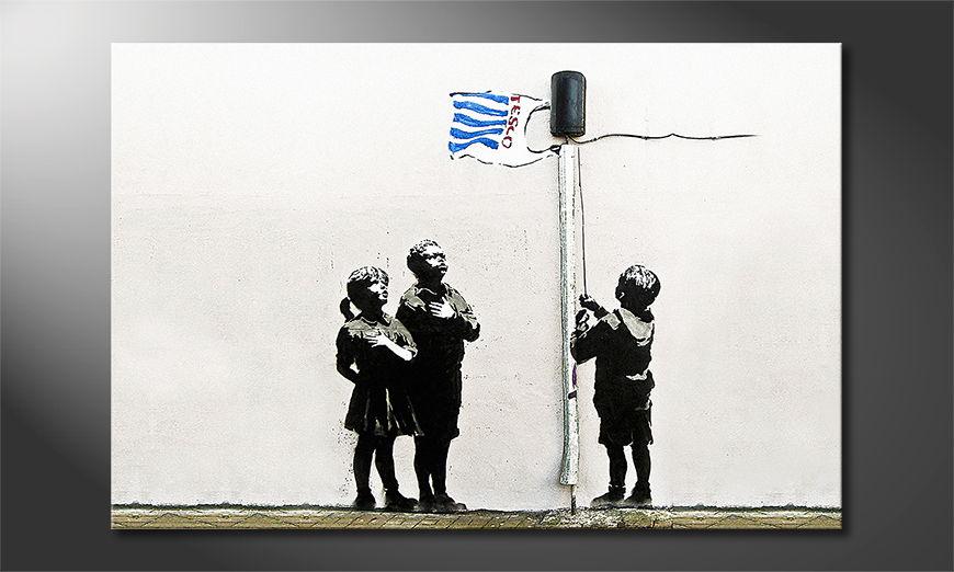 La toile imprimée Banksy No18