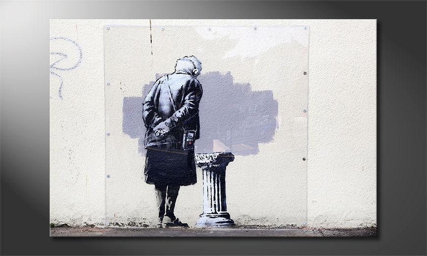 La toile imprimée Banksy No2