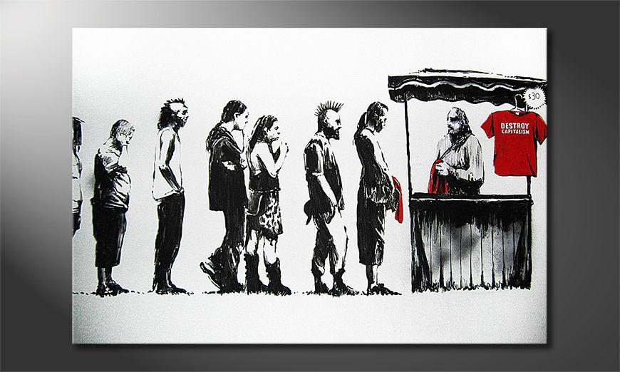 La toile imprimée Banksy No6