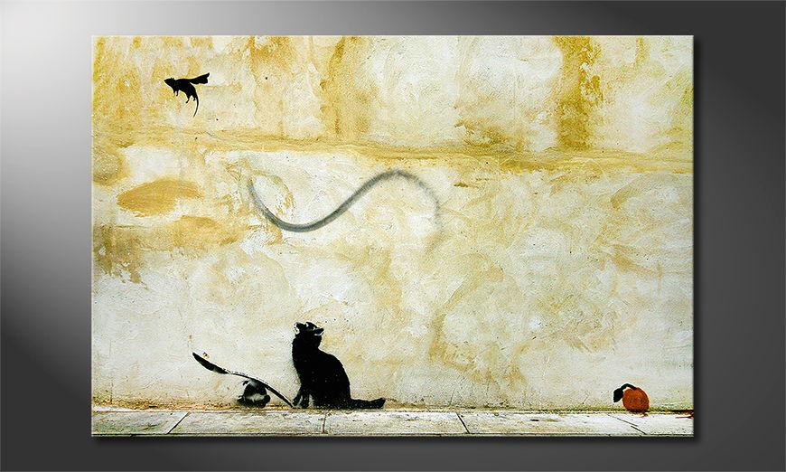 La toile imprimée Banksy No8