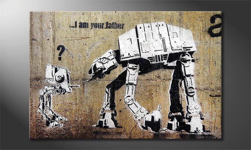 La toile imprimée Banksy No9