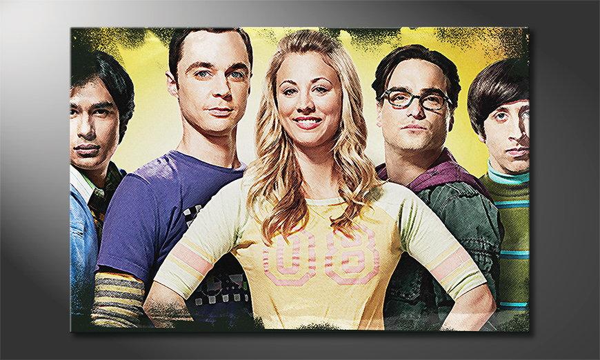 La toile imprimée Big Bang Theory