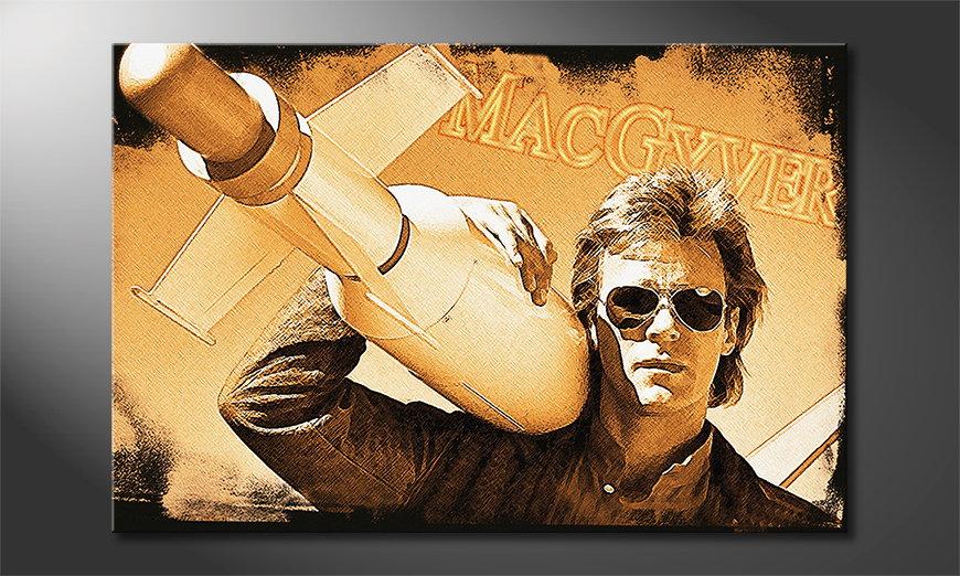 La toile imprimée culte MacGyver