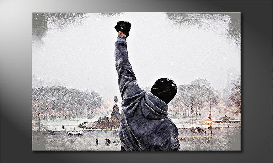 Le tableau imprimé Instant Rocky