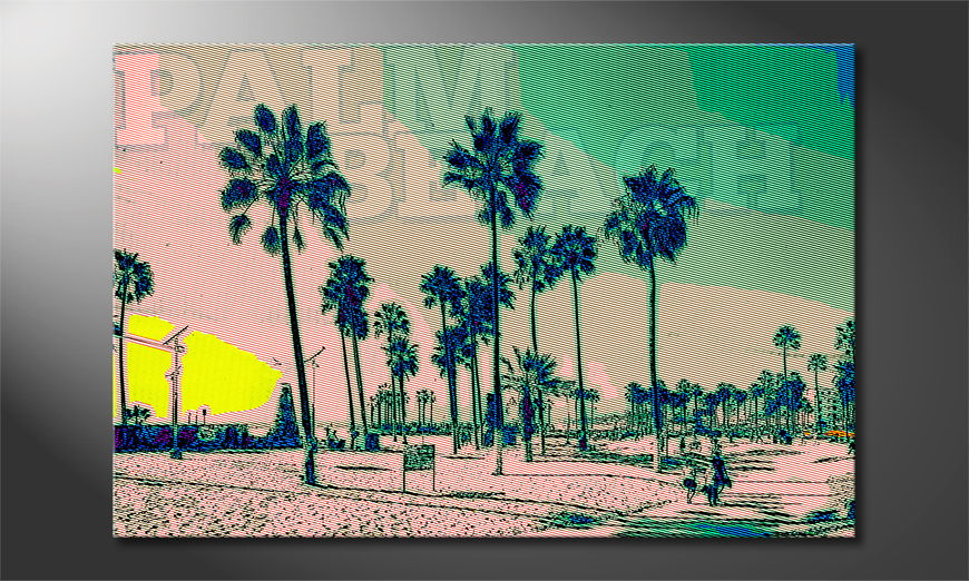Le tableau imprimé Palm Beach
