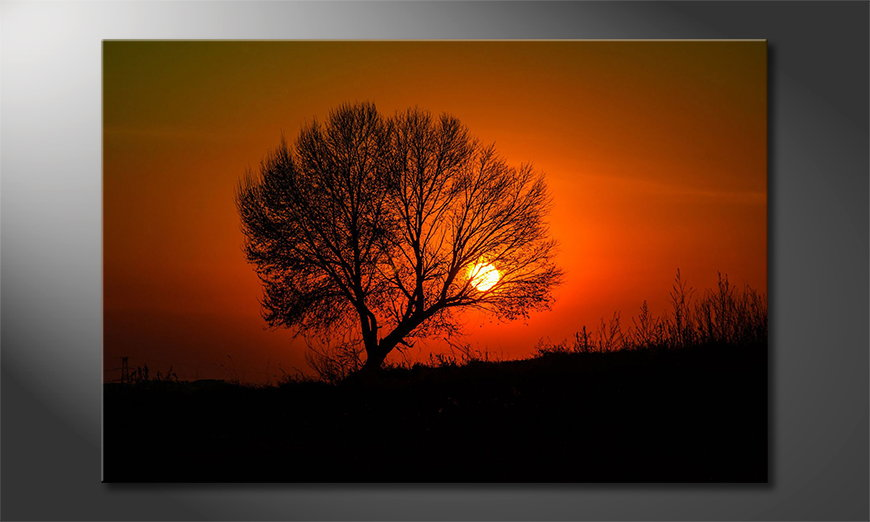Le tableau imprimé Red Sunset